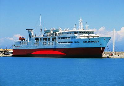 ZAKYNTHOS 1, Zakynthos Harbour. 7th June 2012.