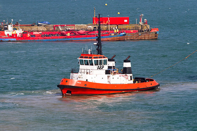 Tug St. Piran, Falmouth Harbour. Thursday 4th April 2013.