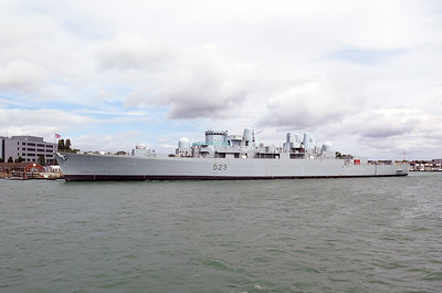 The unique Type 82 destroyer HMS BRISTOL D23, now a training vessel at Portsmouth. Wednesday 3rd August 2016.
