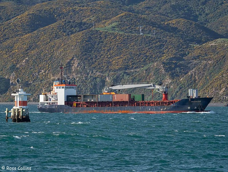 'Southern Tiare' departing from Wellington, 11 June 2020