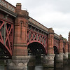The Union Railway Bridge the crosses the River Clyde between Gorbals and Bridge Gate. The first bridge on the site was built by the City Of Glasgow Union Railway to serve St Enoch Railway Station, and the current bridge was built by the Glasgow & South Western Railway in 1902 when St Enoch was extended. When St Enoch closed in 1966 the line became redundant to passenger working, but the bridge was retained for empty coach working, freight and charter work.