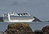 'Golden Princess' departs Wellington Harbour, 8 October 2017