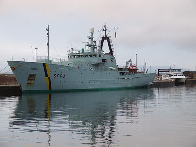 SFPA vessel Norma docked at the northern end of James Watt Dock