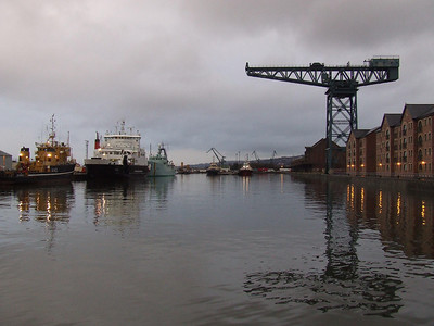 Looking East in the James Watt Dock