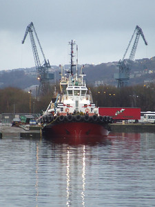 The Keverne bethed at the James Watt Dock