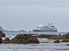 'L'Austral' enters Wellington Harbour on 1 January 2018