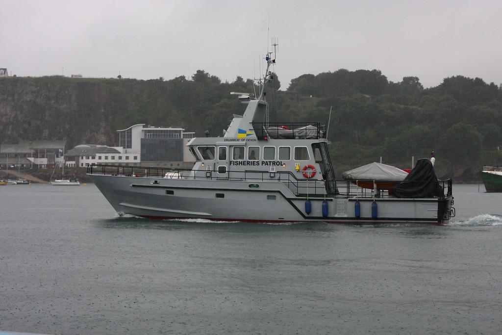 DRUMBEAT OF DEVON, Fisheries Patrol, Brixham July 2009