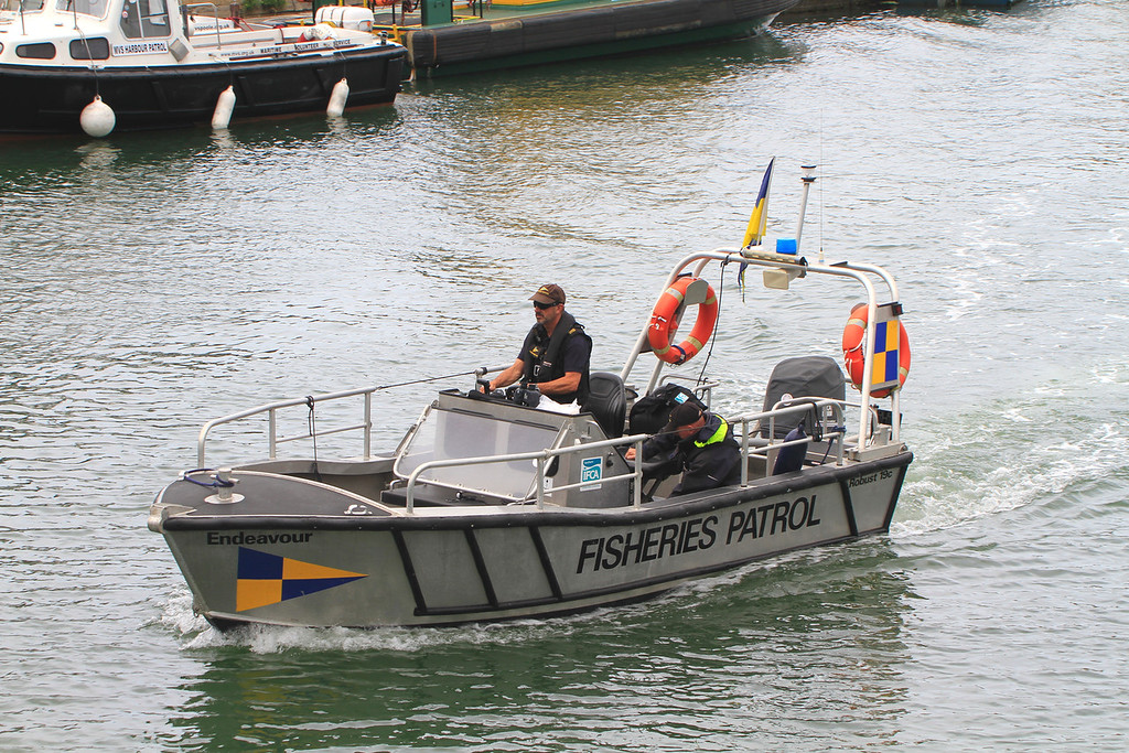 ENDEAVOUR, Fisheries Patrol, Poole July 2015