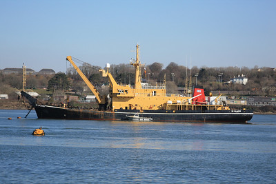 SD SALMOOR IMO:8401999 1967gt @ T3 in the River Tamar, Plymouth 05.03.10