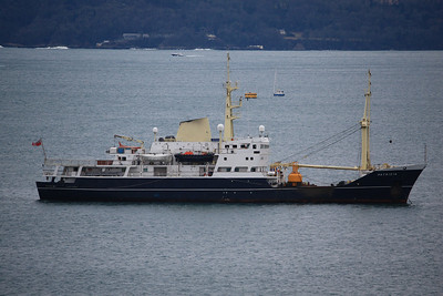PATRICIA IMO:8003632 2639gt @ Anchor in Plymouth Sound 22.02.10