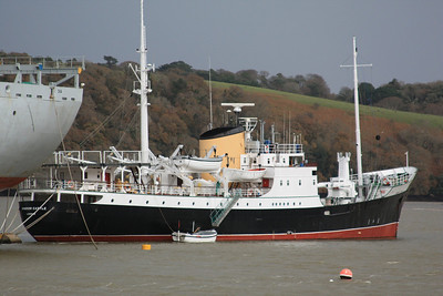 WINDSOR CASTLE IMO:5419957 1268gt - laid up in the River Fal 22.11.09