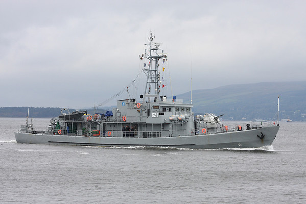 621 ORP FLAMING, Poland, River Clyde Sept 2011