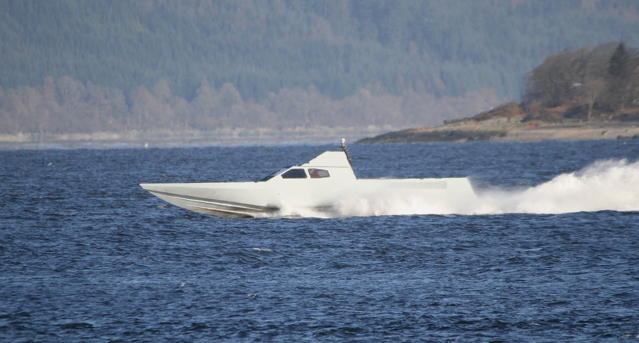 ROYAL MARINES STEALTH BOAT