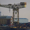 The Barclay Curle Titan crane at the former shipyard at Whiteinch in Glasgow