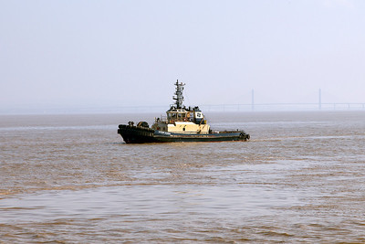 Tug SVITZER ELLERBY waits for EMERALD LEADER. Sunday 18th May 2014.