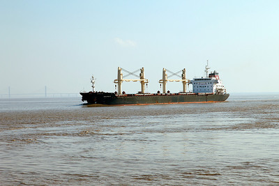 ANATOLIA heads to sea past the point with a cargo of scrap for Nemrut Bay, Turkey. Sunday 18th May 2014.