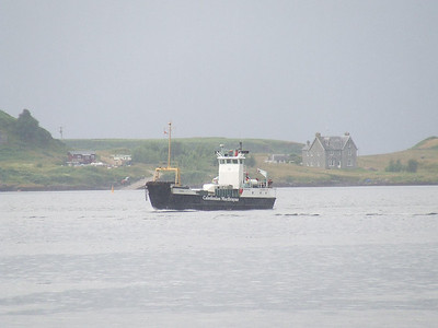 Caledonian MacBrayne ferry Eigg on the approach to the ferry terminal at Oban