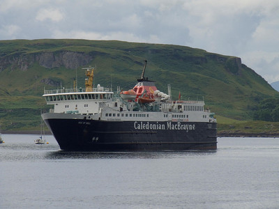 Caledonian MacBrayne ferry Isle Of Mull on the approach to the ferry terminal at Oban