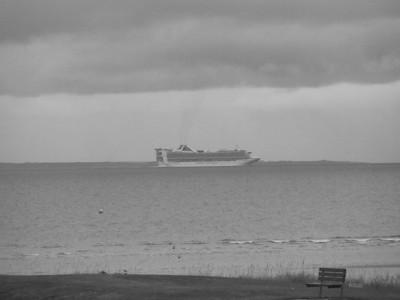 Cruise ship on the Moray Firth, where it calls into Invergordon