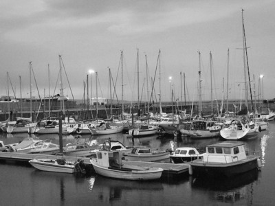 Nairn Harbour in the failing light
