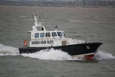 HAVEN HARRIER - In the River Orwell approaching Felixstowe 01.10.10