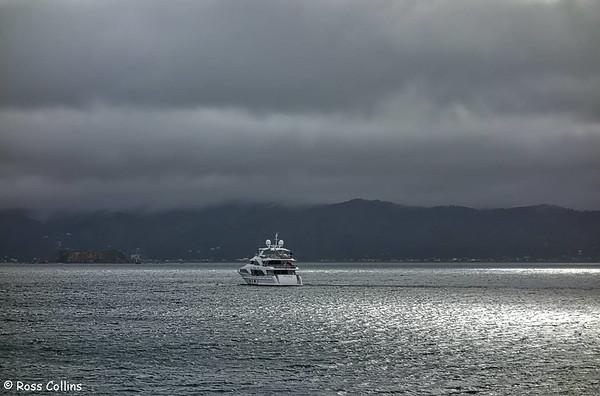 Super yacht 'Nomadess', Karaka Bay, Wellington, 11 November 2016