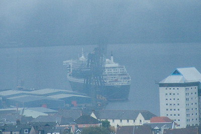 Queen Mary 2 berthed at Greenock Ocean Terminal