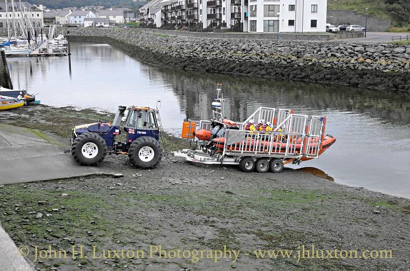 Aberystwyth Lifeboat Atlantic 85  B-822 RNLB SPIRIT OF FRIENDSHIP - August 13, 2015