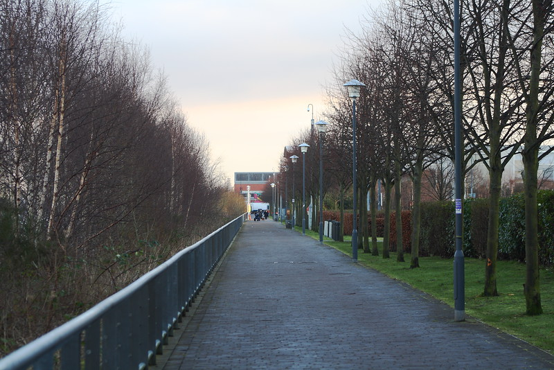 The Clyde Walkway at Renfrew beside Soar INTU Braehead, formerly X-Scape. For a riverside walkway it has an awful lot of trees that obscure the views of the River Clyde, something which tends to defeat the purpose of a riverside walkway....
