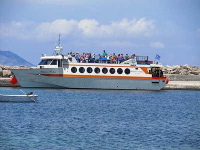 Anek Ferries' KALYMNOS DOLPHIN, Mastihari Harbour. Sunday 1st June 2014.