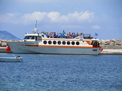 Anek Ferries' KALYMNOS DOLPHIN, Mastihari Harbour. Sunday 1st June 2014.