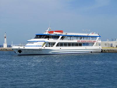 Kos-Bodrum Express Lines' BUYUK HIZIR REIS, IMO 8981896, Kos Harbour, 27th May 2014.