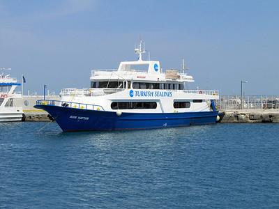 Turkish Sealines' ASIM KAPTAN, IMO 9325867, Kos Harbour 27th May 2014.