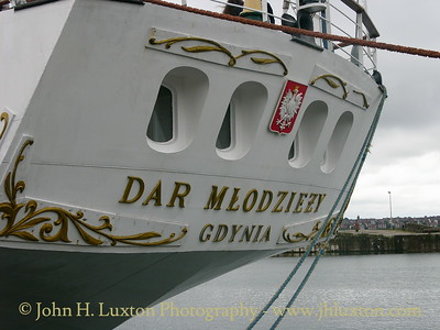 The Polish full rigged sail training ship DAR MLODZIEZY berthed in Sandon Dock on June 16, 2007