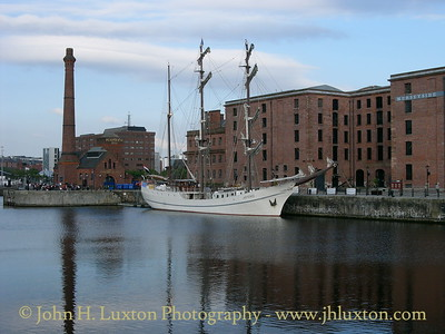 The passenger barque ARTEMIS seen in Canning Half Tide Dock, Liverpool on June 30, 2006. The vessel was on Merseyside for corporate hospitality purposes.
