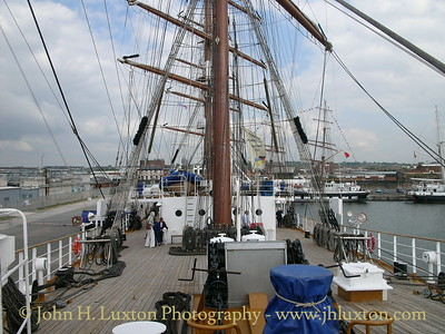 On board the Ukranian full rigged ship KHERSONES berthed at Wellington Dock, Liverpool on June 10, 2005.