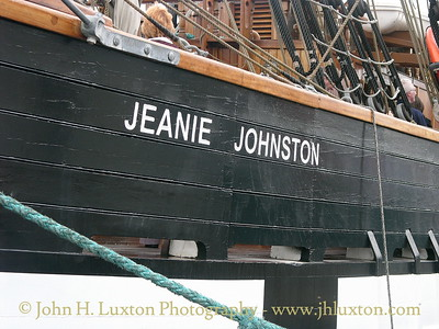 The replica trans-Atlantic emigrant shipJEANIE JOHNSTON photographed at Wellington Dock, Liverpool on June 16, 2007 - her first visit to Merseyside.