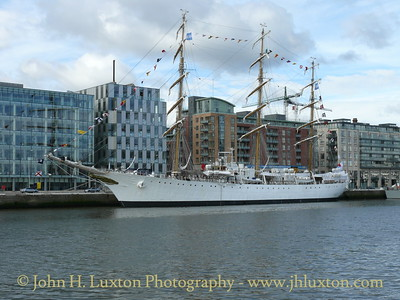 The ARA LIBERTAD is the Argentine Navy (Armada de la República Argentina) sail traing ship. She was launched in 1956, built near Buenos Aires. She is seen here at Sir John Rogerson's Quay on a visit to Dublin on June 23, 2007. Her call at the Irish capital was to commemorate Admiral William Brown the Irish founder of the Argentine Navy.