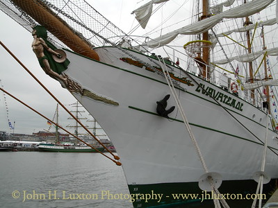 Mexican Navy CUAUHTEMOC at Wellington Dock, Liverpool on July 18, 2008 whilst taking part in the 2008 Tall Ships Race.