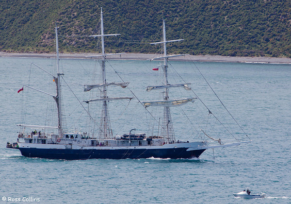 STS Lord Nelson departs Wellington on 9 November 2013