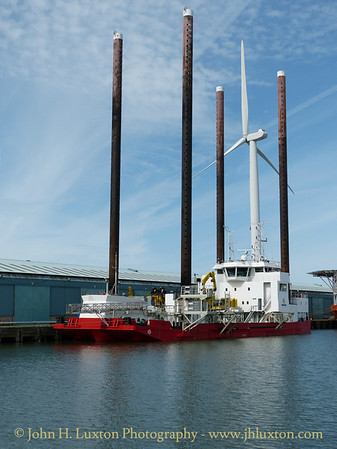 Jack Up Vessel WIND - August 24, 2014 in Langton Dock