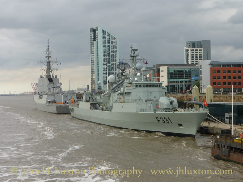 NRP ÁLVARES CABRAL at Liverpool Cruise Terminal - August 05, 2016