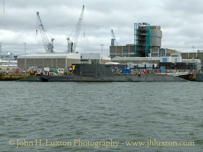 HMS AMBUSH, Devonport Dockyard, Devon - March 27, 2018