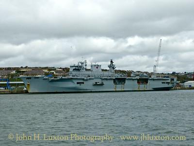 HMS OCEAN, Devonport Dockyard, Devon - March 27, 2018