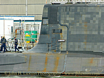 HMS AMBUSH, Devonport Dockyard, Devon - March 27, 2018