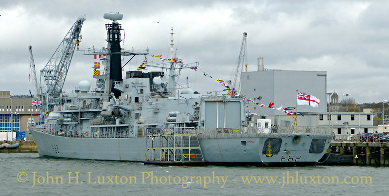 HMS SOMERSET, Devonport Dockyard, Devon - March 27, 2018