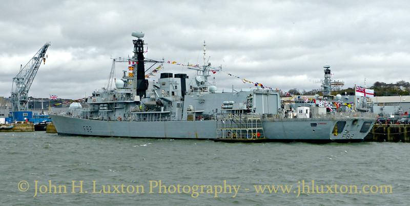 HMS SOMERSET, Devonport Dockyard, Devon - March 27, 2018