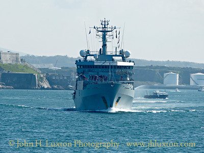 HMS ENTERPRISE (H88) Returns to Devonport - April 18 , 2017