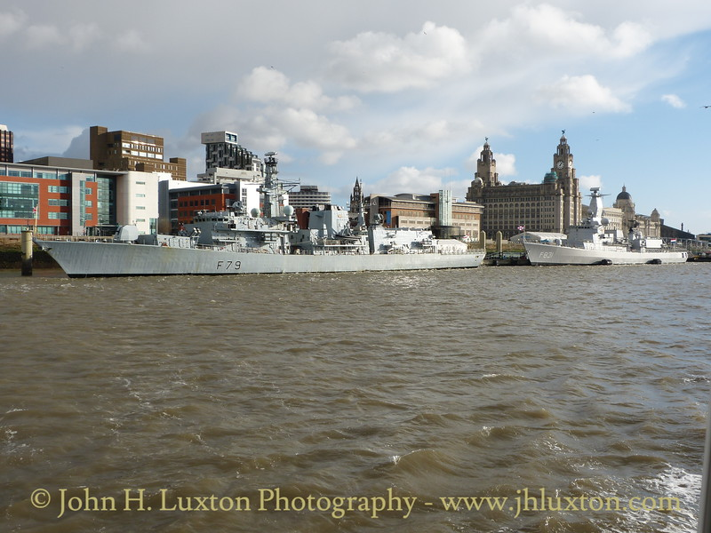 HMS PORTLAND (F79) at Liverpool Cruise Terminal - January 17, 2015