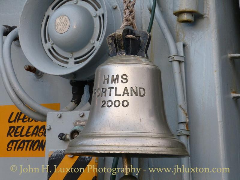 HMS PORTLAND (F79) at Liverpool Cruise Terminal - January 17, 2015